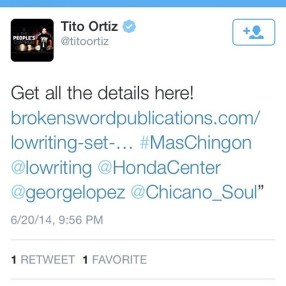 Tito Ortiz endorses Lowriting